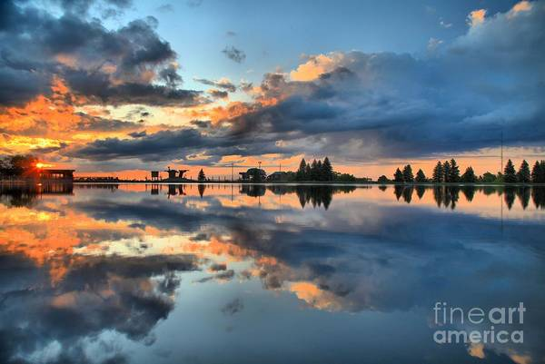 Photograph - Fire Over Lake Tahoe by Adam Jewell