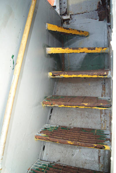 Fireboat Wall Art - Photograph - Fireboat Stairwell by Margie Avellino