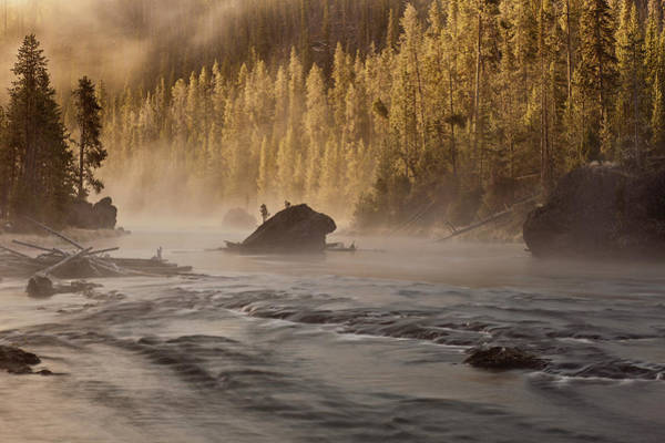 Photograph - Firehole River At Sunrise by D Robert Franz