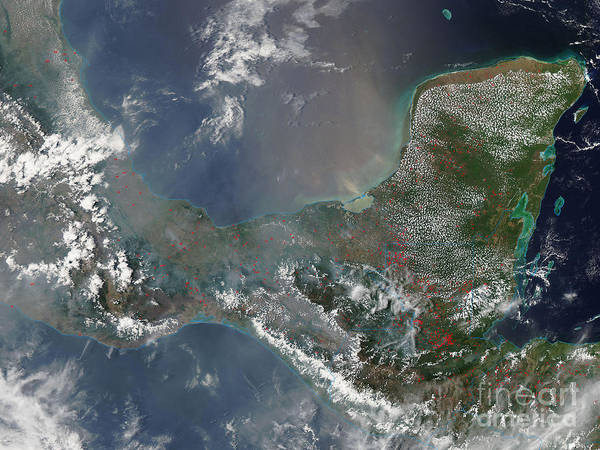 Campeche Photograph - Fires In Mexico And Central America by Nasa