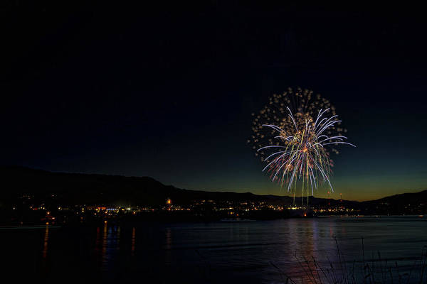 Photograph - Fireworks On The River by Brad Granger