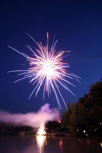 Chain Of Lakes Photograph - Fireworks One by Ty Helbach