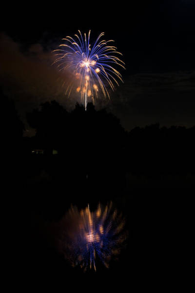 Photograph - Fireworks Reflection by James BO Insogna