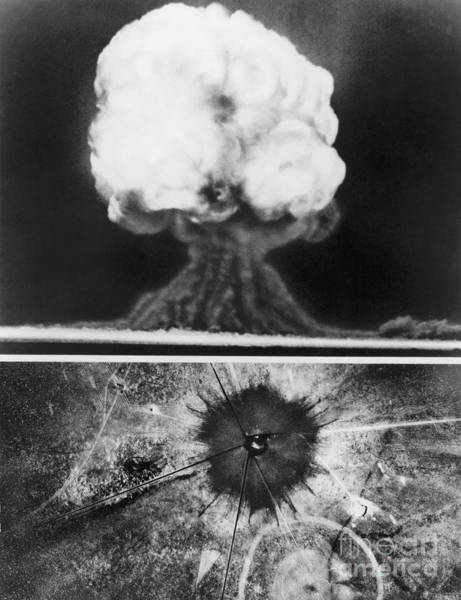 Photograph - First Atomic Bomb, 1945 by Granger