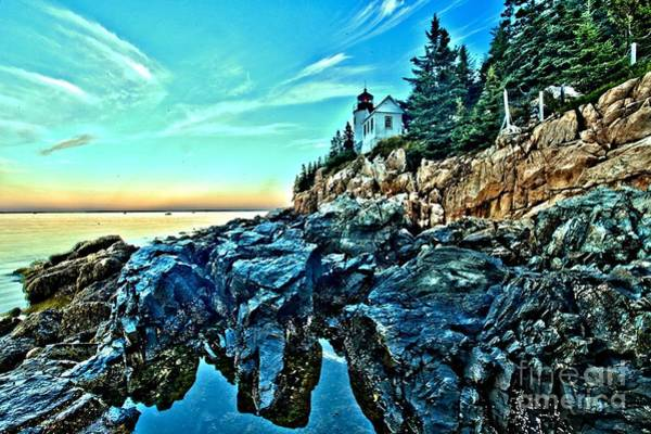 Photograph - First Light At Bass Harbor by Adam Jewell