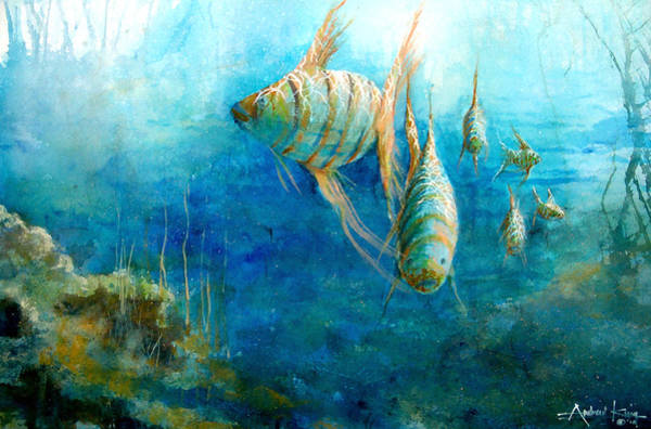 Painting - Fish by Andrew King