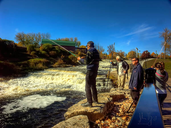 Napanee Photograph - Fish On by John Herzog
