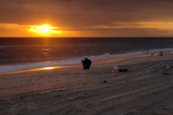 Photograph - Fisherman At Sunrise by Mary Almond