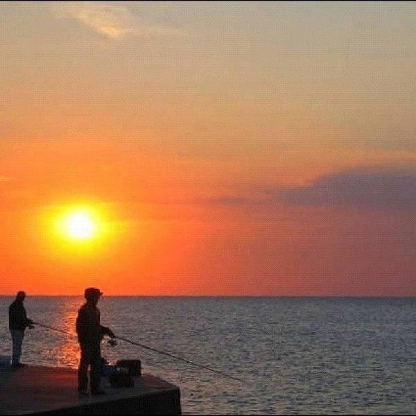 Wall Art - Photograph - Fishermen At Sunset by Gianluca Sommella