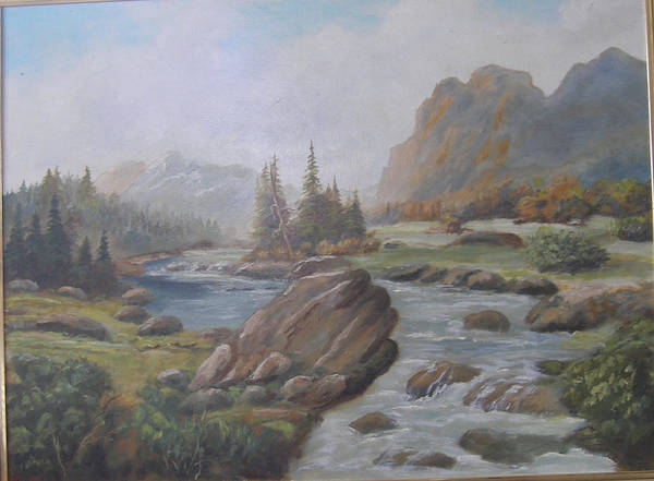 Wall Art - Painting - Fishhead Rock River by Mark Perry