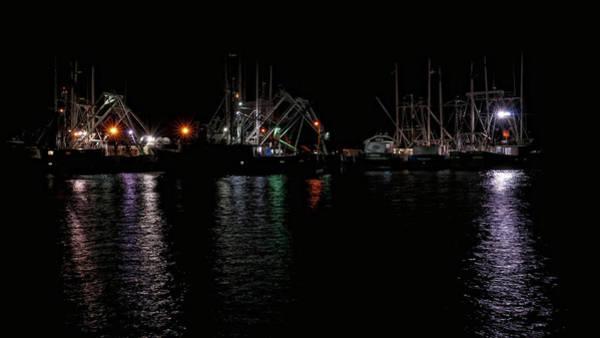 Photograph - Fishing Boats At Night by Louis Dallara