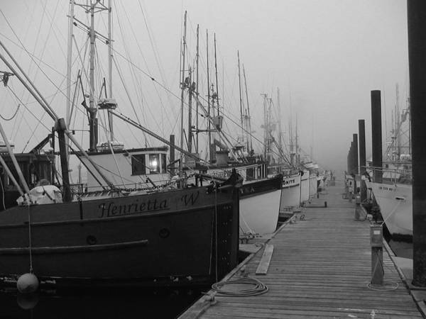 Photograph - Fishing Boats In Fog by HW Kateley