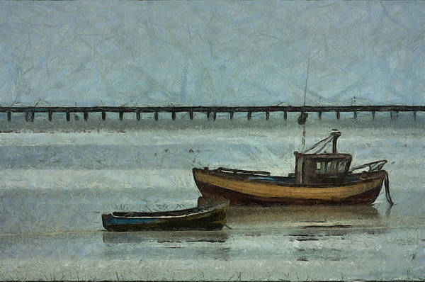 Southend Photograph - Fishing Boats Southend by Dawn OConnor