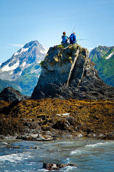 Photograph - Fishing From The Rock by Adam Pender