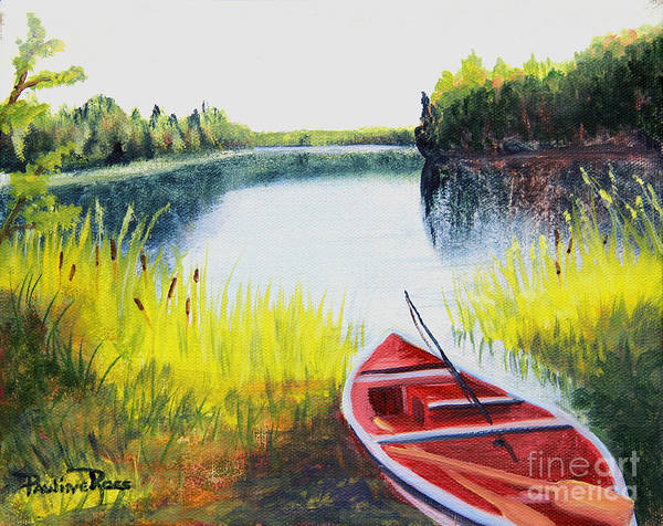 Wall Art - Painting - Fishing Lake by Pauline Ross
