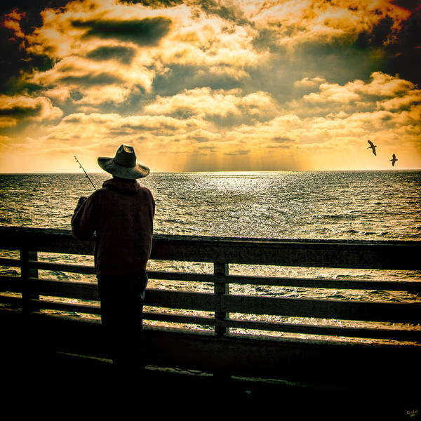Photograph - Fishing On A California Pier by Chris Lord