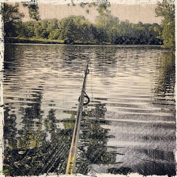 Wall Art - Photograph - #fishing #pond #lake #midwest #painting by Bryan P