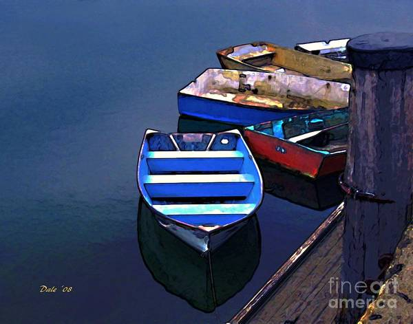 Digital Art - Five Dinghies by Dale   Ford