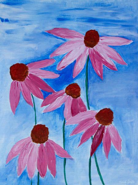 Coneflower Painting - Five Ladies Dancing by Heidi Smith