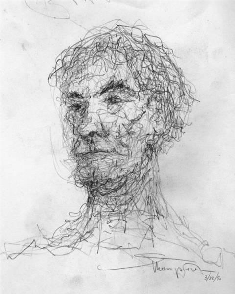 Drawing - Five Minute Man by James Lanigan Thompson MFA