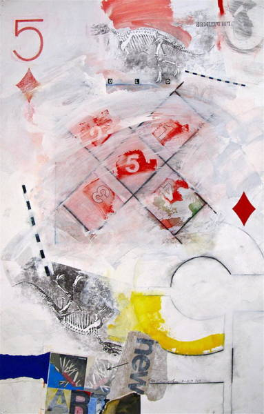 Painting - Five Of Diamonds 5-52 by Cliff Spohn