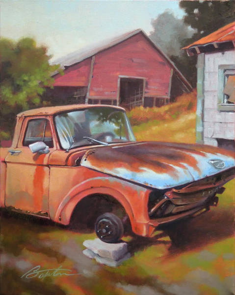 Farm Truck Wall Art - Painting - Fixer Upper by Todd Baxter