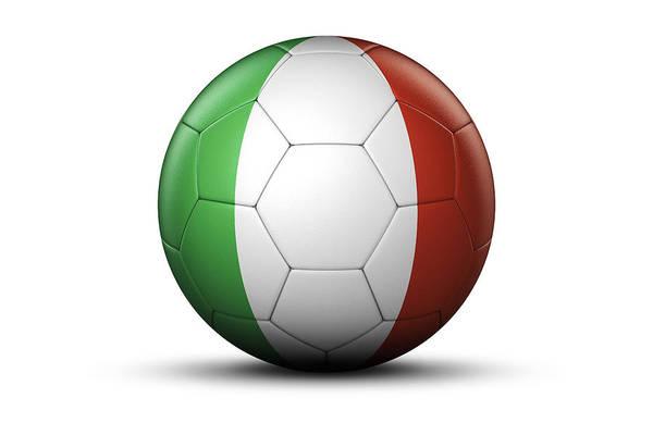 Italian Football Wall Art - Photograph - Flag Of Italy On Soccer Ball by Bjorn Holland