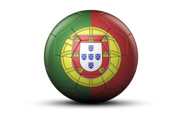 Lisbon Digital Art - Flag Of Portugal On Soccer Ball by Bjorn Holland