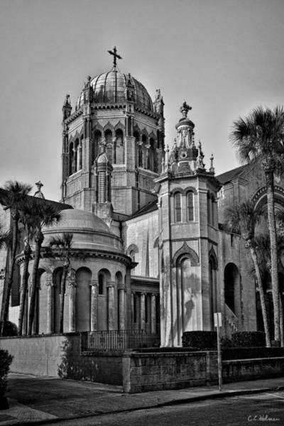 Photograph - Flagler Memorial Presbyterian Church 3 - Bw by Christopher Holmes