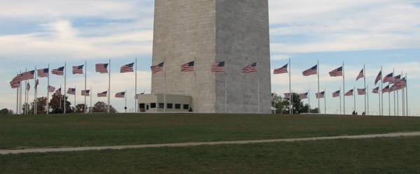 Photograph - Flags Around The Washington Monument by Keith Stokes