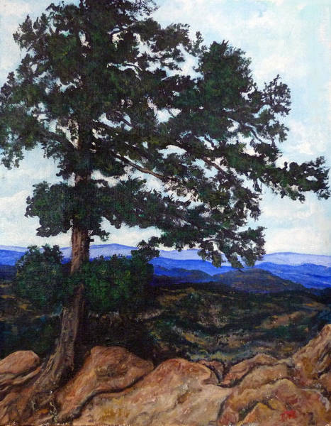 Painting - Flagstaff Mountain by Tom Roderick