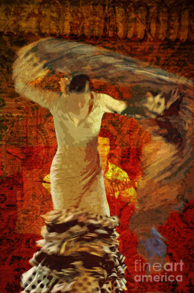 Posterize Photograph - Flamenco Series No 2 by Mary Machare