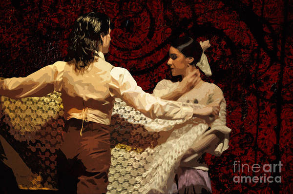 Posterize Photograph - Flamenco Series No 3 by Mary Machare
