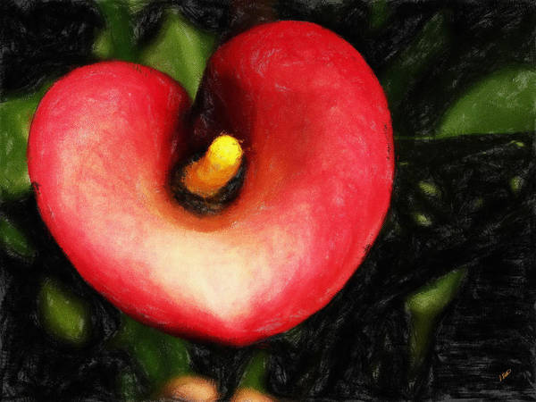 Painting - Flamingo Lily 301 by Dean Wittle