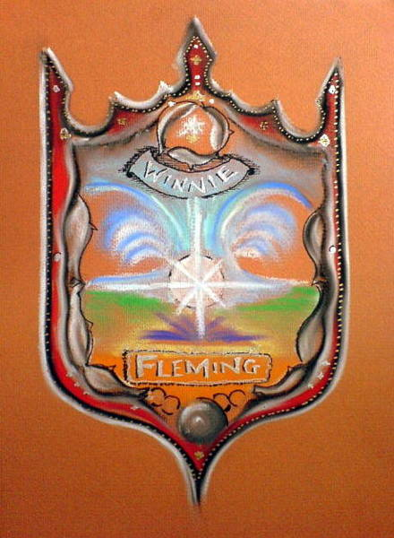 Painting - Fleming Family Crest by Ahonu