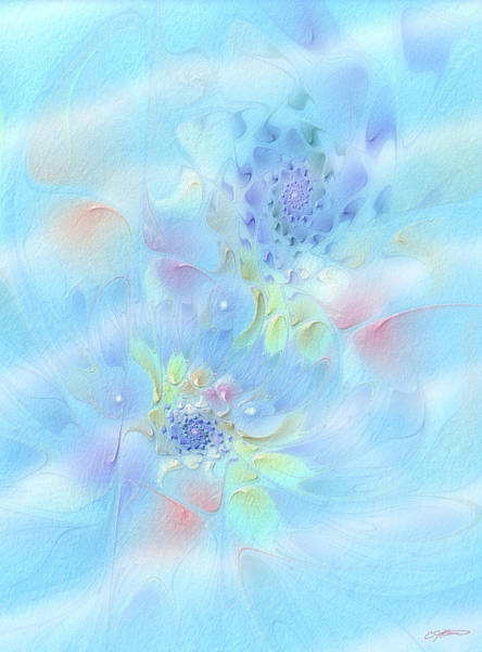 Fleur Digital Art - Fleur De Fantasm by Casey Kotas