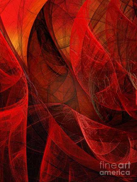 Magnificent Digital Art - Flickering Flaming Fractal 2 by Andee Design