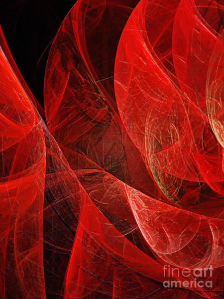 Wall Art -  - Flickering Flaming Fractal by Andee Design
