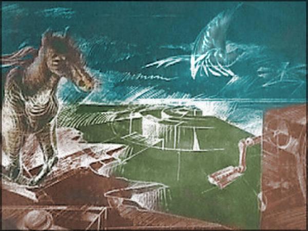 Drawing - Flight 1981 B by Glenn Bautista