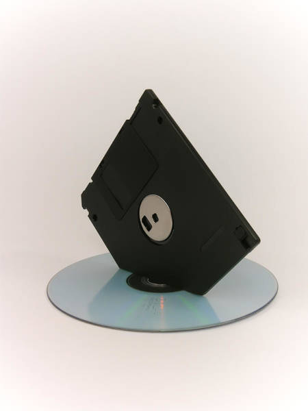 Floppy Disk Photograph - Floppy And Cd by Silvino Beschi