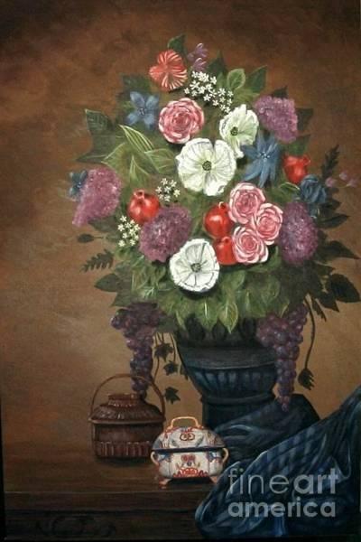 Painting - Floral-2 by Monika Shepherdson