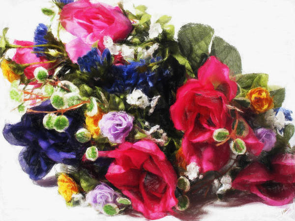 Painting - Floral Bouquet 301 by Dean Wittle