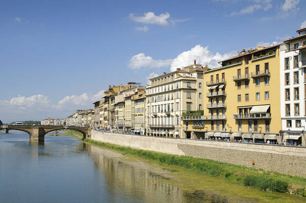 Photograph - Florence Arno River And Houses by Matthias Hauser