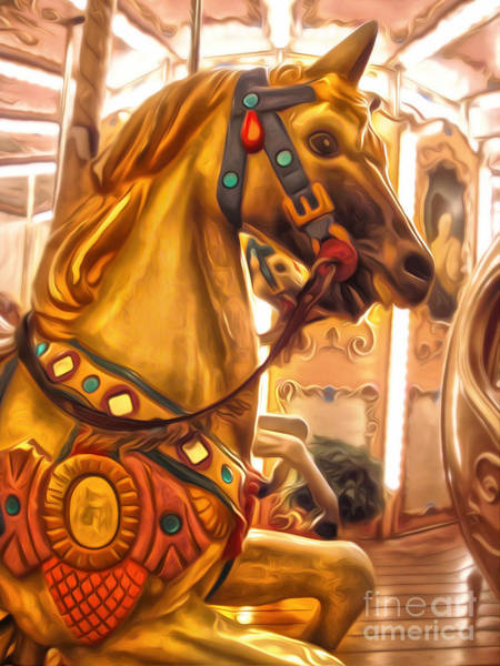 Photograph - Florence Italy Carousel- 01 by Gregory Dyer