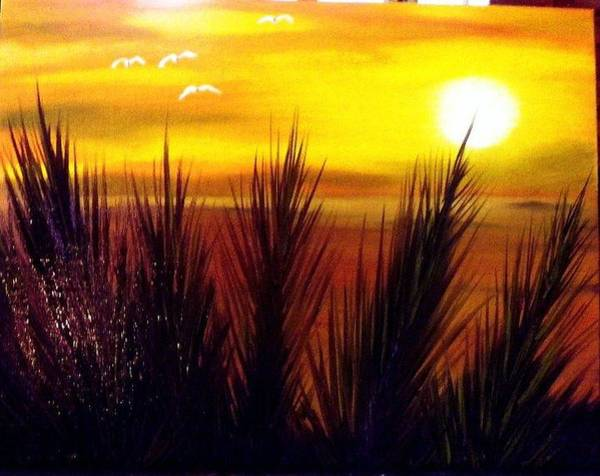 Benny Painting - Florida Beach Sunset by Benny Lawrence