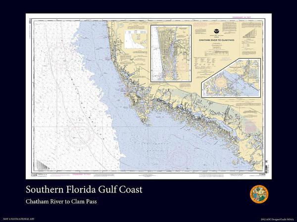 Noaa Chart Wall Art - Photograph - Florida Gulf Coast by Adelaide Images