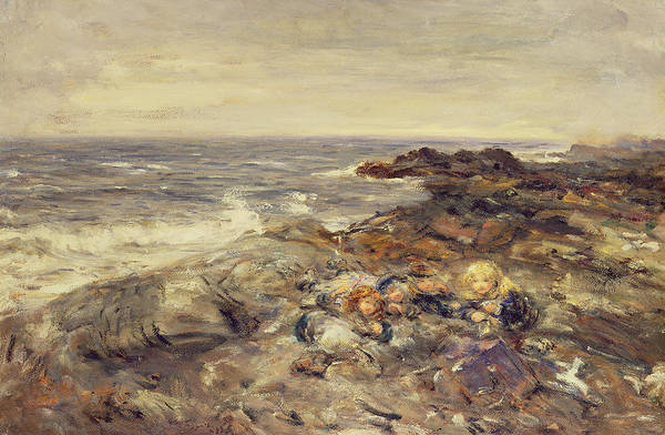 Untamed Wall Art - Painting - Flotsam And Jetsam by William McTaggart