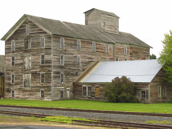 Photograph - Flour Mill Oaksville Washington by Tony and Kristi Middleton
