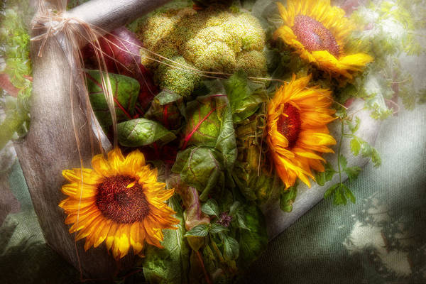 Photograph - Flower - Sunflower - Gardeners Toolbox  by Mike Savad