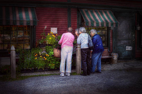 Photograph - Flower - The Garden Club  by Mike Savad